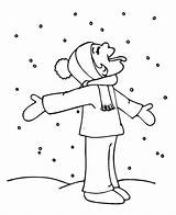 Coloring Snow Winter Funny Kid Pages Season Hilarious Weather Tasting Snowy Print Template Beach Colornimbus sketch template
