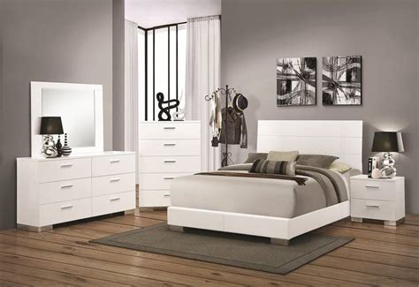 dallas designer furniture felicity glossy white bedroom set