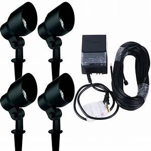 landscape lighting kit malibu 4 pack 20 watt floodlight With outdoor lighting kit video