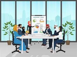 Arab Muslim Business People Group