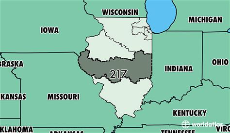 Where Is Area Code 217 / Map Of Area Code 217
