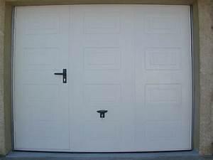porte de garage basculante a cassette avec portillon With porte de garage a cassette
