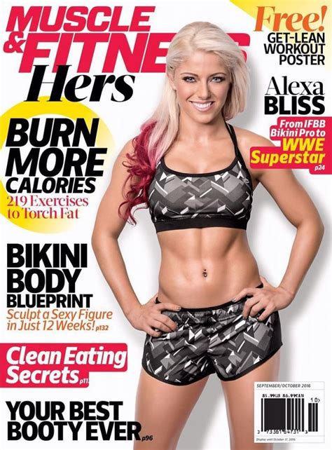 wwe alexa bliss   cover  muscle fitness