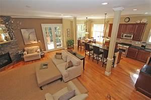 open plan kitchen dining living room designs home combo With kitchen dining family room design