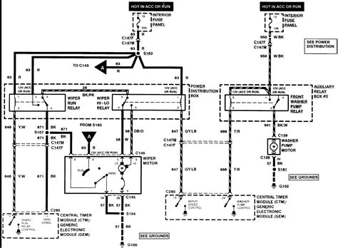 1995 Ford Explorer Wiring Schematic by Wiring 1994 Ford Explorer Wiper Motor Wiring Diagram