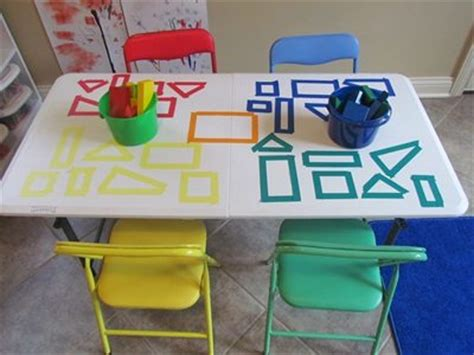 table activities for preschoolers exploring our shapes with blocks on the table top teach