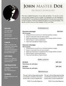 Free Resume Templates Doc Free Cv Template 681 687 Freecvtemplate Org