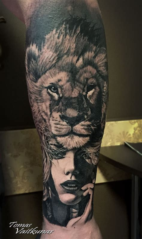lion tattoo girls ideas  pinterest lion