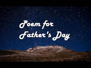 Father's Day Poem Video - Happy Father's Day 2015 - YouTube