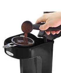 Includes 12 cup, dishwasher safe glass carafe.audible ready signal lets you know when your coffee is ready. Amazon.com: BELLA 13930 One Scoop One Cup Coffee Maker, Black: Single Serve Brewing Machines ...