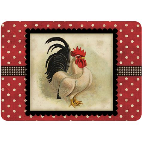Kitchen Mat Rooster by Comfort Kitchen Mat Rooster In Floor Mats