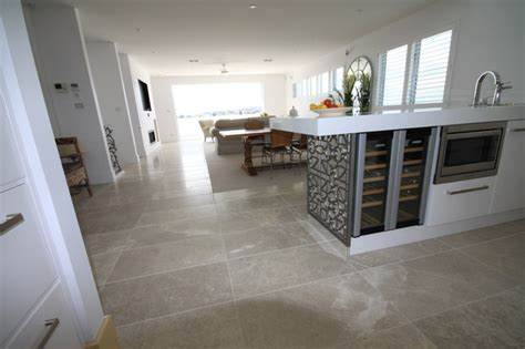 marble flooring contemporary kitchen other