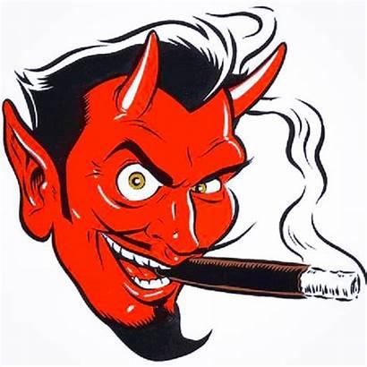Devil Clipart Cigar Face Tattoo Brushes Booze