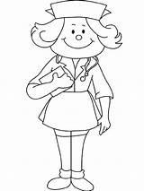 Nurse Coloring Draw Netart sketch template