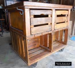 kitchen island or cart apple crate rustic farmhouse kitchen island cart