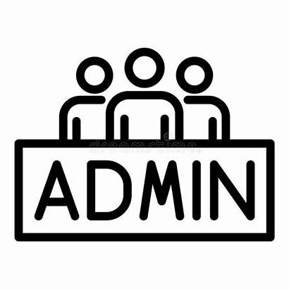 Admin Icon Symbol Persons Outline Three Isolated