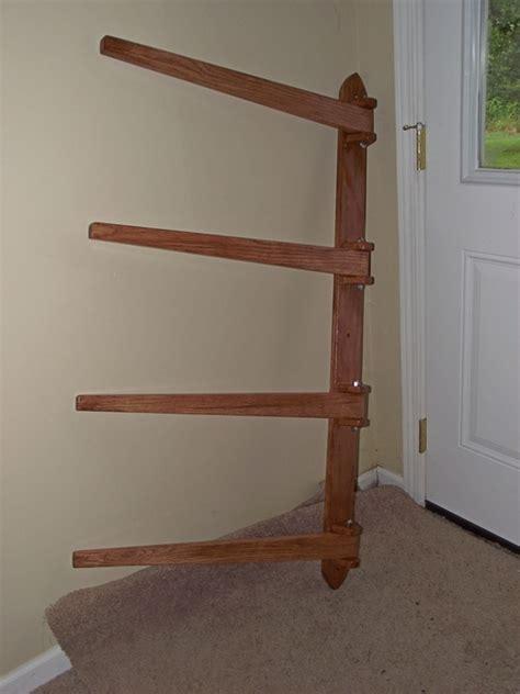 wooden quilt rack wall mount  woodworking