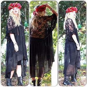 Stevie Nicks style black Gypsy Tunic from True Rebel Clothing