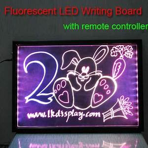 LED Sparkle Writing Board Neon Sign Board Neon Writing