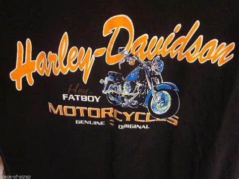 Harley Davidson Motorcycle Tee Shirt Fat Boy