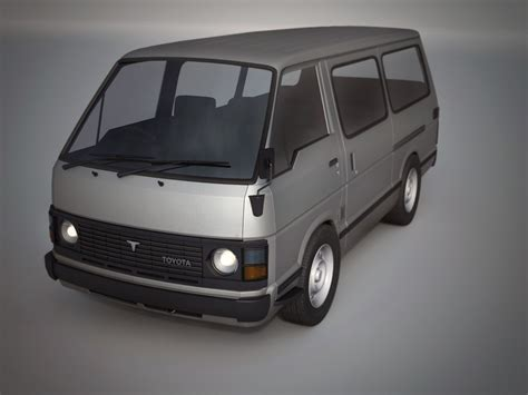 It's strong, reliable and designed to keep its value better, for longer, whichever grade you choose. toyota hiace 1982-1989 3D model | CGTrader