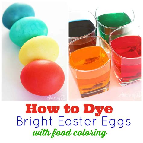dye eggs  food coloring skip   lou