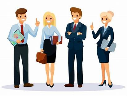 Office Workers Cartoon Business Character Vector Illustration