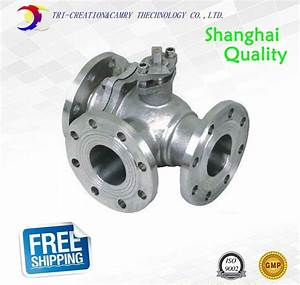1 U0026quot  Dn25 Manual Stainless Steel Flange Ball Valve 3 Way 304