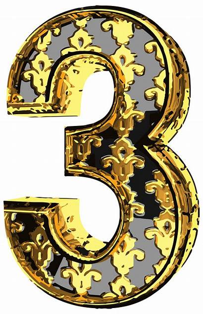 Number Clip Numbers Clipart Elegant Three Yopriceville