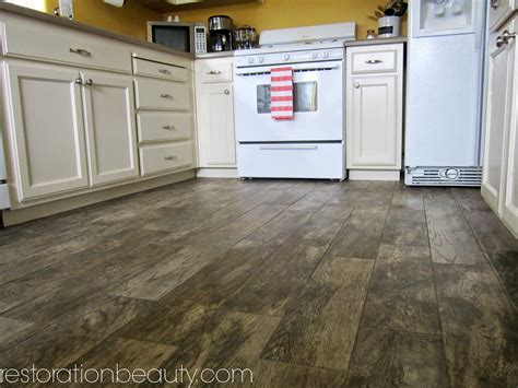 wood or tile in kitchen restoration faux wood tile flooring in the kitchen 1945
