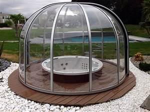 Abri Pour Spa Intex : abris spa rotonde abritello abri piscine spa terrasse ~ Louise-bijoux.com Idées de Décoration