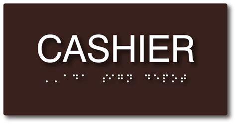 compliant cashier sign  sign depot