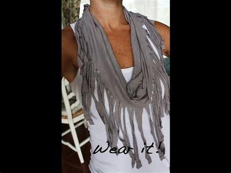 decorer un t shirt diy pancho foulard 224 frange avec un vieux t shirt