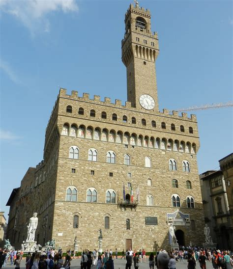 Palazzo vecchio was built in the form of a castle and with a tower of 94 meters high between 1299 and 1314. Palazzo Vecchio - The Incredibly Long Journey