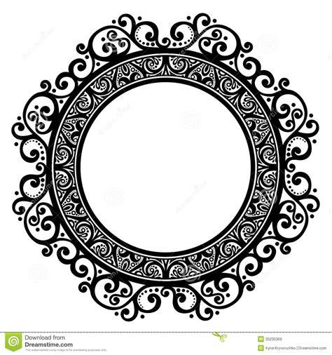 vector ornate circle frame images floral