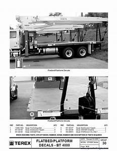 Terex Bt4000 Crane Download Parts Manual In Pdf Format