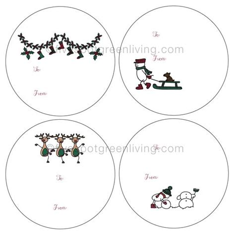 christmas huge template free printable christmas gift tags and labels round up