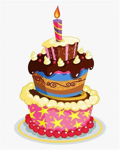 Cake Birthday Clipart Clip Transparent Cartoon Happy