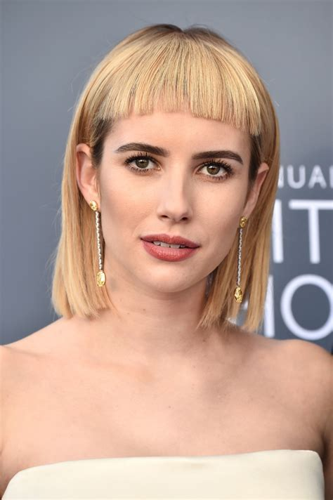 Emma Roberts Short Cut With Bangs - Hair Lookbook ...