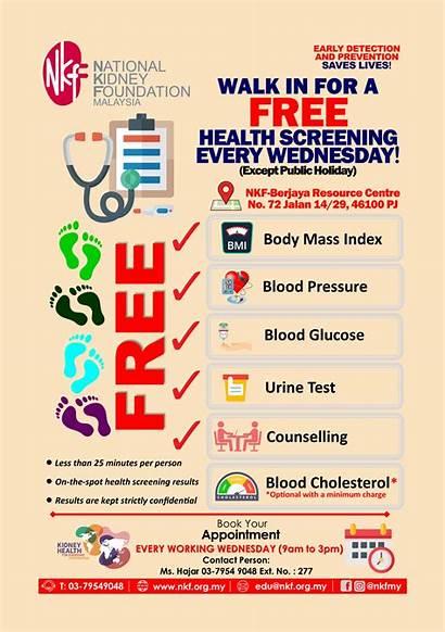 Health Screening Walk Poster Kidney Education National