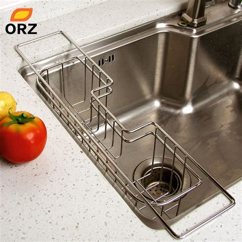 orz stainless steel kitchen tray dish drainer drying rack