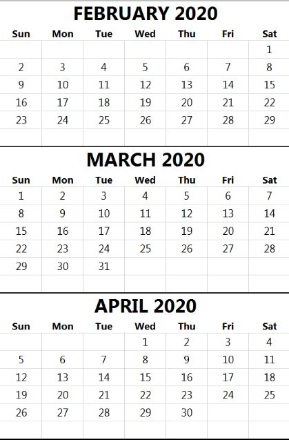 printable month calendar templates calendar