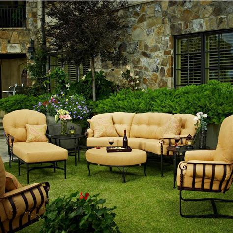 meadowcraft athens wrought iron 6 person patio deep