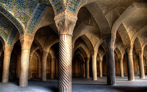 photo   week shiraz mosque interior iran middle