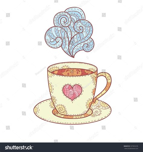 An svg's size can be increased or decreased without a loss of quality. Doodle Coffee Cup Aroma Isolated On Stock Vector 337981676 - Shutterstock