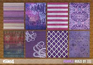 Purple, Rugs, 01, At, Oh, My, Sims, 4, U00bb, Sims, 4, Updates