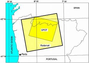 Location Of The Radarsat And Spot Images Used