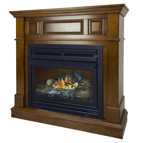 ventless gas fireplace pleasant hearth 27 500 btu 42 in convertible ventless
