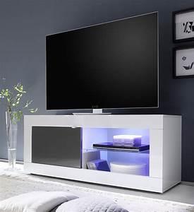 javascript est desactive dans votre navigateur With charming meuble etagere avec porte 3 meuble tv laque blanc et anthracite design focus 3