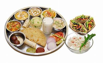 Thali Veg Indian Gujarati Vegetarian Transparent Punjabi